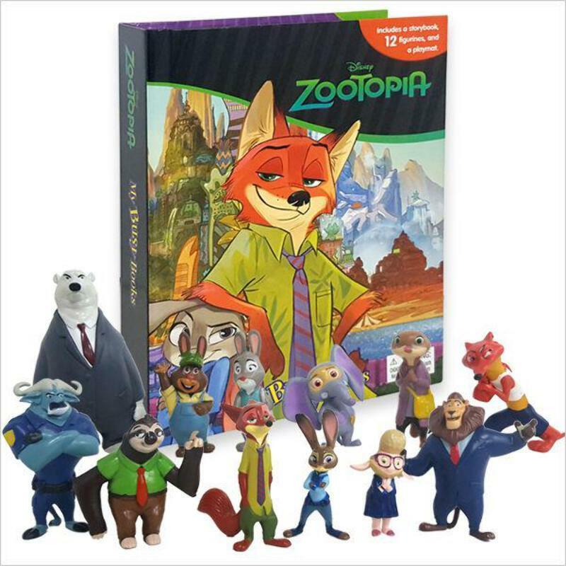 My Busy Book : Zootopia 주토피아 비지북 (미니피규어 12개 + 놀이판)