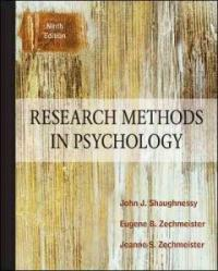 Research methods in psychology 9th ed