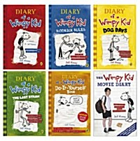 Diary of a Wimpy Kid 6종 Set (Paperback 4권 + Hardcover 2권, 영국판)