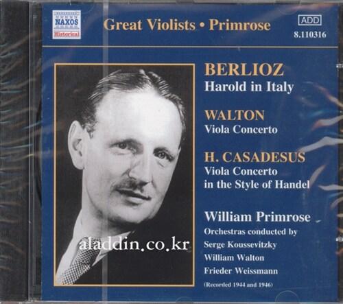 [수입] 베를리오즈 : 이탈리아의 해롤드 & 카사데우스 : 비올라 협주곡 외