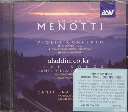 [수입] 메노티 : 바이올린 협주곡 & 다섯개의 가곡 외