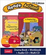 Ready Action 2E 1: The Shepherd Boy and the Wolf (Student Book, Workbook, Audio CD, Multi-CD)