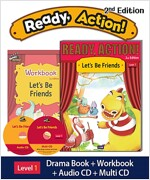 Ready Action 2E 1: Let's Be Friends (Student Book, Workbook, Audio CD, Multi-CD)