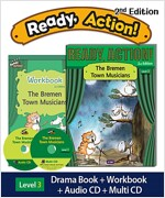 Ready Action 2E 3: The Bremen Town Musicians (Student Book, Workbook, Audio CD, Multi-CD)