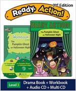 Ready Action 2E 3: The Pumpkin Ghost on Halloween Night (Student Book, Workbook, Audio CD, Multi-CD)