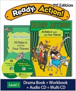 Ready Action 2E 3: Ali Baba Jr. and the Four Thieves (Student Book, Workbook, Audio CD, Multi-CD)