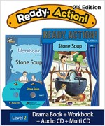 Ready Action 2E 2: Stone Soup (Student Book, Workbook, Audio CD, Multi-CD)
