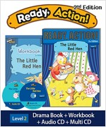 Ready Action 2E 2: The Little Red Hen (Student Book, Workbook, Audio CD, Multi-CD)