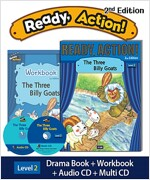 Ready Action 2E 2: The Three Billy Goats (Student Book, Workbook, Audio CD, Multi-CD)