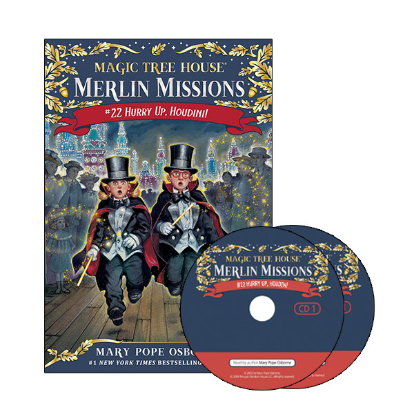 Merlin Mission #22 : Hurry Up, Houdini! (Paperback + CD )