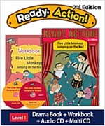 Ready Action 2E 1: Five Little Monkeys Jumping on the Bed (Student Book + Workbook + Audio CD + Multi-CD, 2nd edition)
