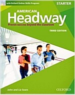 American Headway: Starter: Student Book with Online Skills : Proven Success beyond the classroom (Package, 3 Revised edition)