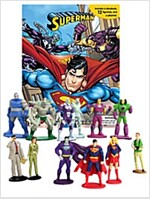 DC Superman My Busy Book (미니피규어 12개 포함) (Board book)