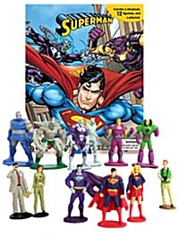 My Busy Book : DC Superman 슈퍼맨 비지북 (미니피규어 12개 + 놀이판)