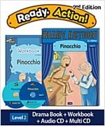 Ready Action 2E 2: Pinocchio (Student Book + Workbook + Audio CD + Multi-CD)