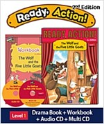 Ready Action 2E 1: The Wolf and the Five Little Goats (Student Book + Workbook + Audio CD + Multi-CD , 2nd edition )