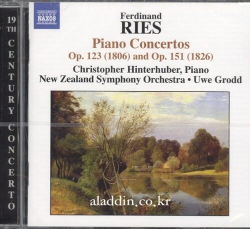 [수입] 리스 : 피아노 협주곡 Op.123 & Op.151