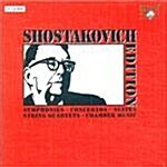 [수입] 쇼스타코비치 에디션 - 교향곡, 협주곡  & 실내악 모음곡 (27CD + DVD)