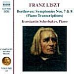 [수입] 베토벤-리스트 : 교향곡 7 & 8번 (피아노 편곡)