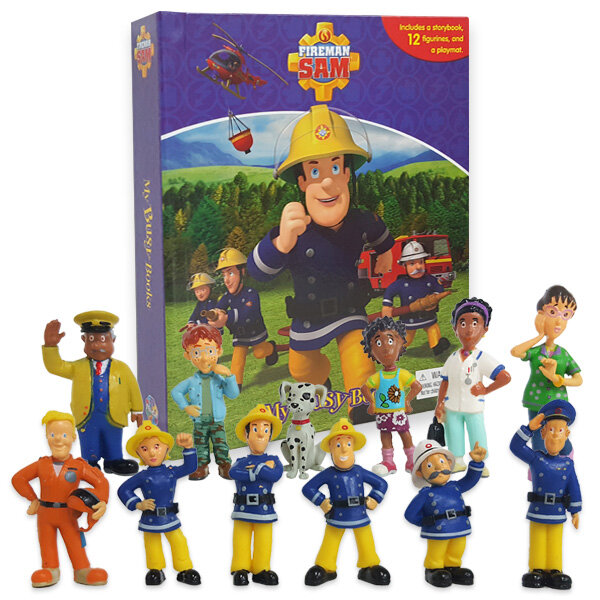 Fireman Sam My Busy Book 소방관 샘 아저씨 비지북 (미니피규어 12개 + 놀이판)
