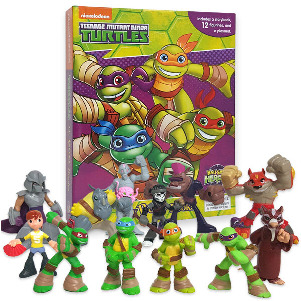 My Busy Book : Teenage Mutant Ninja Turtles Half-Shell Heroes 닌자 거북이 비지북 (미니피규어 12개 + 놀이판)