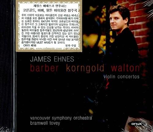 [수입] 제임스 에네스가 연주하는 코른골드, 바버 & 월튼의 바이올린 협주곡 (DDD/ UK 수입)