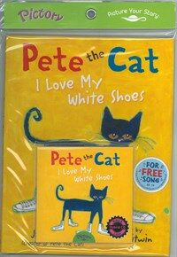 Pictory Set PS-45 / Pete the Cat: I Love My White Shoes (Hardcover + Hybrid CD)