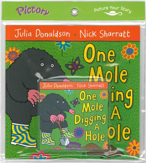 Pictory Set PS-48 One Mole Digging a Hole (Book, Audio CD)