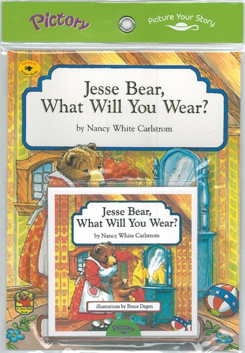 Pictory Set PS-32 Jesse Bear, What Will You Wear? (Book, Audio CD)