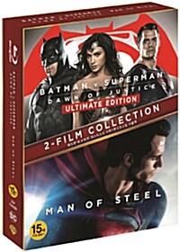 [블루레이] 히어로 더블팩 - 배트맨 대 슈퍼맨: 저스티스의 시작 UE(극장판 & 확장판) + 맨 오브 스틸 (3disc 한정판)