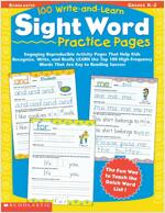 100 Write-And-Learn Sight Word Practice Pages (Paperback)