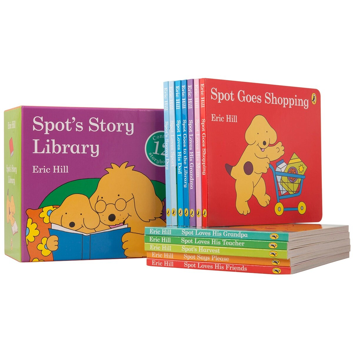 스팟 보드북 12종 세트 Spots Story Library 12 Board Books Set (Board Book 12권)
