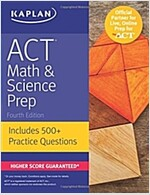 ACT Math & Science Prep: Includes 500+ Practice Questions (Paperback)