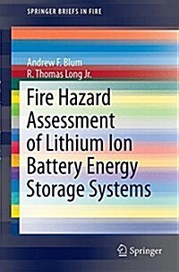Fire Hazard Assessment of Lithium Ion Battery Energy Storage Systems (Paperback)