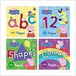 Peppa Pig 보드북 4종 Set (ABC, 123, Shapes, Colours)