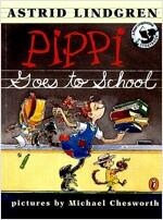Pippi Goes to School: Picture Book (Paperback)