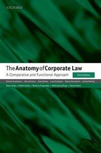 The Anatomy of Corporate Law : A Comparative and Functional Approach (Paperback, 3 Revised edition)