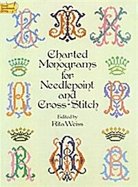 Charted Monograms for Needlepoint and Cross-Stitch (Paperback)