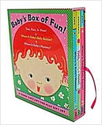 Baby's Box of Fun: A Karen Katz Lift-The-Flap Gift Set: Toes, Ears, & Nose!/Where Is Baby's Belly Button?/Where Is Baby's Mommy? (Boxed Set, Boxed Set)