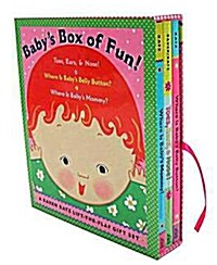 Babys Box of Fun: A Karen Katz Lift-The-Flap Gift Set: Toes, Ears, & Nose!/Where Is Babys Belly Button?/Where Is Babys Mommy? (Boxed Set, Boxed Set)