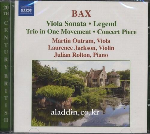 [수입] 백스 : 비올라 소나타, 피아노 트리오 Op.4 & 전설곡 외