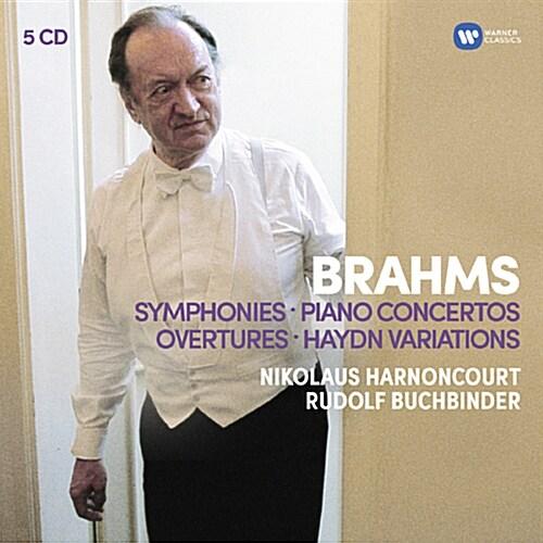 브람스 : 교향곡 전곡, 서곡집 & 피아노 협주곡 [오리지널 커버 5CD]