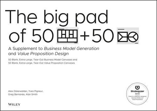 The Big Pad of 50 Blank, Extra-Large Business Model Canvases and 50 Blank, Extra-Large Value Proposition Canvases: A Supplement to Business Model Gene (Paperback)