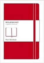 Moleskine Classic Notebook, Pocket, Plain, Red, Hard Cover (3.5 X 5.5) (Imitation Leather)