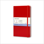 Moleskine Art Plus Sketchbook, Large, Plain, Red, Hard Cover (5 X 8.25) (Hardcover)