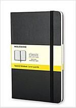 Moleskine Classic Notebook, Pocket, Squared, Black, Hard Cover (3.5 X 5.5) (Imitation Leather)