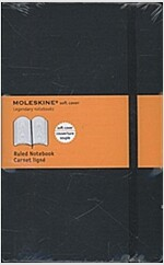 Moleskine Classic Notebook, Large, Ruled, Black, Soft Cover (5 X 8.25) (Imitation Leather)