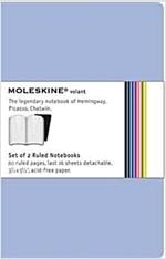 Moleskine Volant Ruled Notebook: Blue (Paperback)