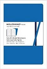 Moleskine Volant Ruled Notebook: Blue Large (Vinyl-bound)