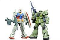 HGUC RX-78-2/MS-06 ガンプラスタ-タ-セット ガンダム vs. 量産型ザク (機動戰士ガンダム) (おもちゃ&ホビ-)